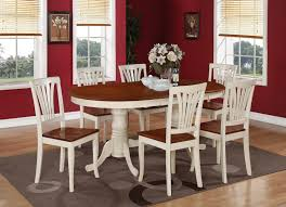 Plainville 7PC Oval Dining Table 6 Chairs Self Storage Leaf ... Vintage Kitchen Table And Chairs Set House Architecture Design Shop Greyson Living Malone 70inch Marble Top Ding Westlake Transitional Cherry Wood Pvc Leg W6 The 85ft W 6 Forgotten Fniture Homesullivan 5piece Antique White And 401393w48 Plav7whiw Rubberwood 7piece Room Free Shipping Cerille Rustic Brown Of 2 By Foa Amazoncom America Bernette Round East West Niwe6bchw Pc Table Set With A