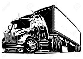 Cartoon Semi Truck Royalty Free Cliparts, Vectors, And Stock ...