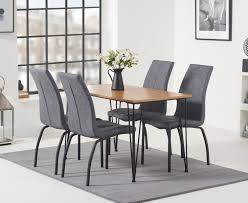 Kalmar 120cm Dining Table With Noir Antique Dining Chairs