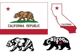 California Flag Free Vector Art
