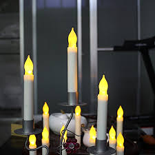 Halloween Flameless Taper Candles by Amazon Com Micandle 12pcs Yellow Led Taper Candles Battery Led