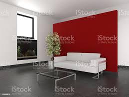 moderne wohnzimmer mit rote wand und aquarium stockfoto und mehr bilder aquarium haustierbedarf