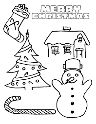 Kids Coloring Pages For Christmas Free Printable