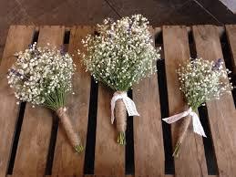 Bridal Bouquet Dried Gypsophila Babys Breath English Lavender