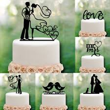 Sweet Acrylic Cake Topper Mr Mrs Wedding Engagement Party Decoration
