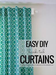 Fabric For Curtains Diy by Remodelaholic Simple Sewn Back Tab Curtains