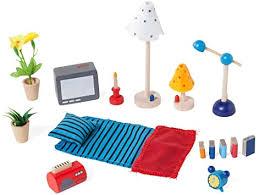 goki 51934 accessoires wohnzimmer 17 teilig puppenhausmöbel