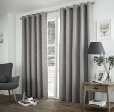 Thermal Lined Curtains Australia by One Pair Of Harlow Eyelet Header Thermal Curtains In Silver Size