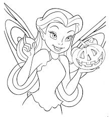 Interesting Inspiration Halloween Coloring Pages Disney Tinkerbell Free