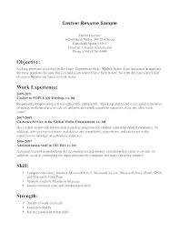 Resume Examples Cashier Experience Samples For Example