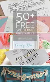 50 Free Wedding DIY Printable Downloads From Offbeatbride