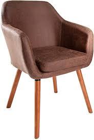invicta interior massiver design stuhl supreme vintage braun massivholz armlehnstuhl esszimmerstuhl esszimmer sessel mit armlehnen massivholzbeine