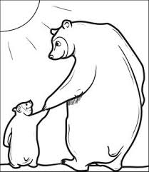 Free Printable Papa Bear With Little Coloring Page For Kids