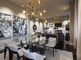 Dining RoomCool Chrome Hanging Lights Over Round Table And For Room 32 Best