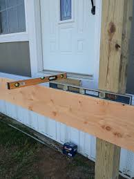 Distance Between Floor Joists On A Deck by How To Build A Deck Or Porch With A Roof U2026part 1 Roses And Wrenches