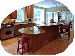 Kitchen Peninsula With Rounded End