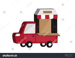 100 Truck Store Shop Vector Illustration White Stock Vector