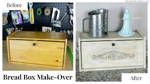 Bread Box Make Over With Americana Decor Chalky Paint