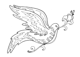 Abstract Bird Coloring Pages