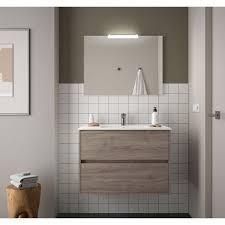 badezimmer badmöbel 90 cm aus eiche eternity holz mit porzellan waschtisch 90 cm standard