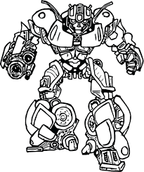 Transformers 3 Coloring Pages Bumblebee Transformer Optimus Prime Free Book Dangerous Page Full Size