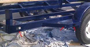 Rustoleum Bed Liner Colors by Paint A Boat Trailer With Bed Liner Or Pirate4x4 Com 4x4 And