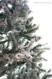 DIY FLOCKED CHRISTMAS TREE TUTORIAL