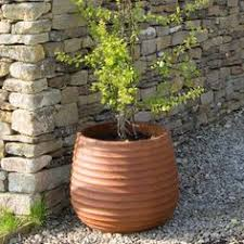 Rustic Ribbed Cement Fibre Planter