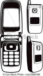 Flip cellphone black and white This is a vector eps vectors