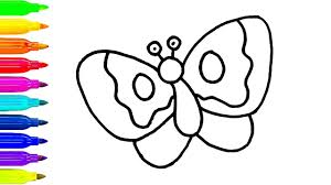 How To Draw A Butterfly For Children