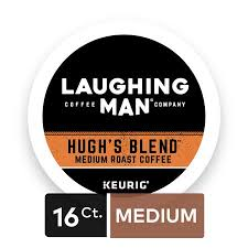 Laughing Man Hughs Blend Keurig Recyclable K Cup Coffee Pods Single Serve Fair
