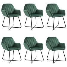 vidaxl esszimmerstühle 6 stk grün samt