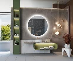 runder badspiegel mit led beleuchtung l76