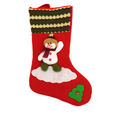 Big Christmas Stockings Hand Making Crafts Children Candy Gift Bag Santa The Old Man Snowman