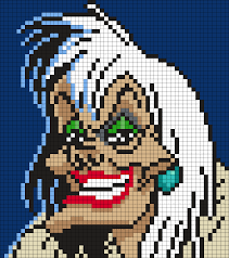 Halloween Hama Bead Patterns by Cruella De Vil From 101 Dalmations By Maninthebook On Kandi