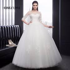 popular beautiful long sleeve lace wedding dresses buy cheap