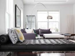 Grey And Purple Living Room Furniture by Modern Interior Design Ideas Decorating Accents In Purple Color
