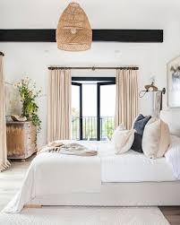 modern farmhouse master bedroom minimal bathroom