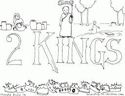 Book Of 2 Kings Bible Coloring Page