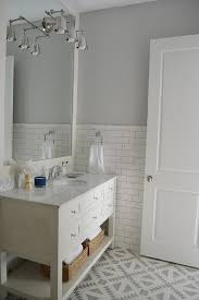 white and gray bathroom with cement tile shop tulum tiles