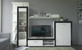 lt p gt kompakte wohnwand in der zeitlosen farbkombi weiß