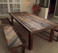 Awesome Barnwood Dining Table Bench Reclaimed Wood Room Tables Orlando Custom