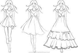 Dresses For Women New Fashion Woman Dress Sketch