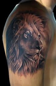 Rasta Lion Tattoo On Shoulder Photo