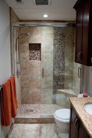 bathroom shower tub ideas white stained wooden wall mounted shelf