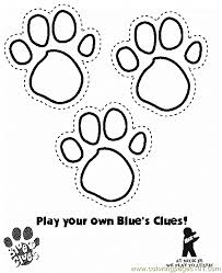 Amazing Paw Print Coloring Pages 84 For With