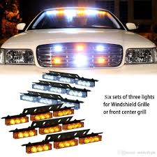 100 Strobe Light For Trucks 2019 AmberWhiteWhite Amber 54 LED Emergency Vehicle Flash