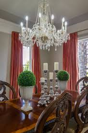 KHB Interiors Traditional Dining Room Custom Silk Drapes New Orleans Old Metairie Lakeview Interior