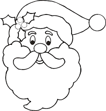 Christmas Santa Coloring Page Face Template