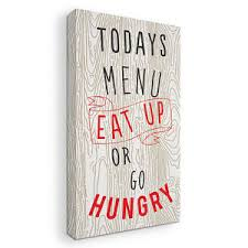 Image Is Loading Eat Up Or Go Hungry Kitchen Art And